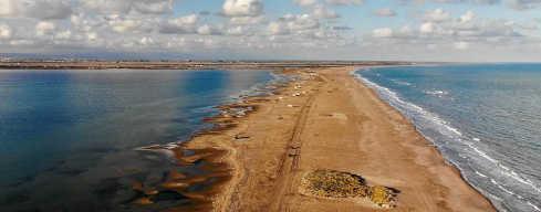Playa del Trabucador y Punta de la Banya