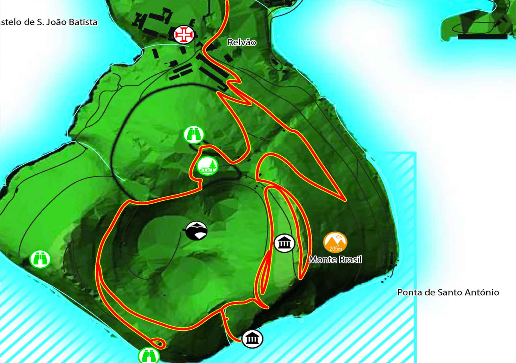Mapa Monte Brasil