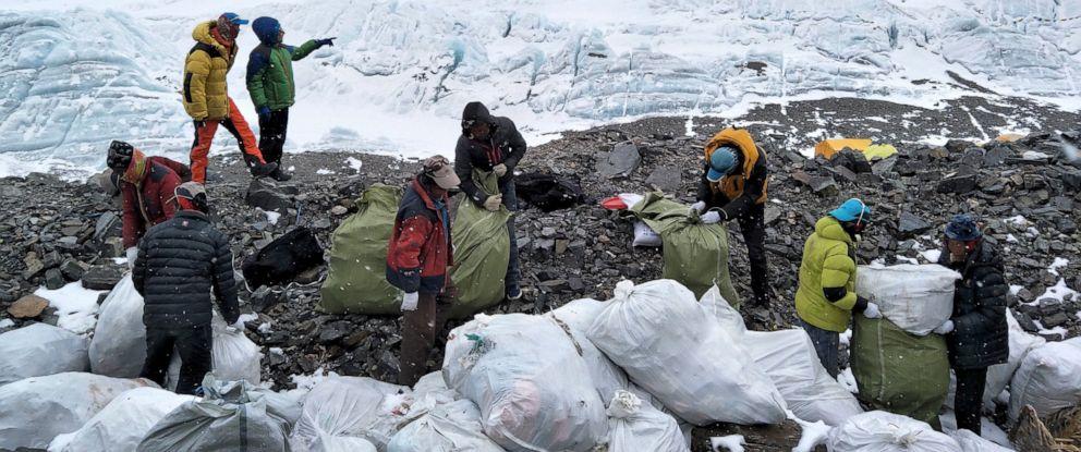 Basura en el Everest
